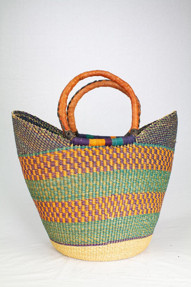 Bolga Basket Tulip Orange